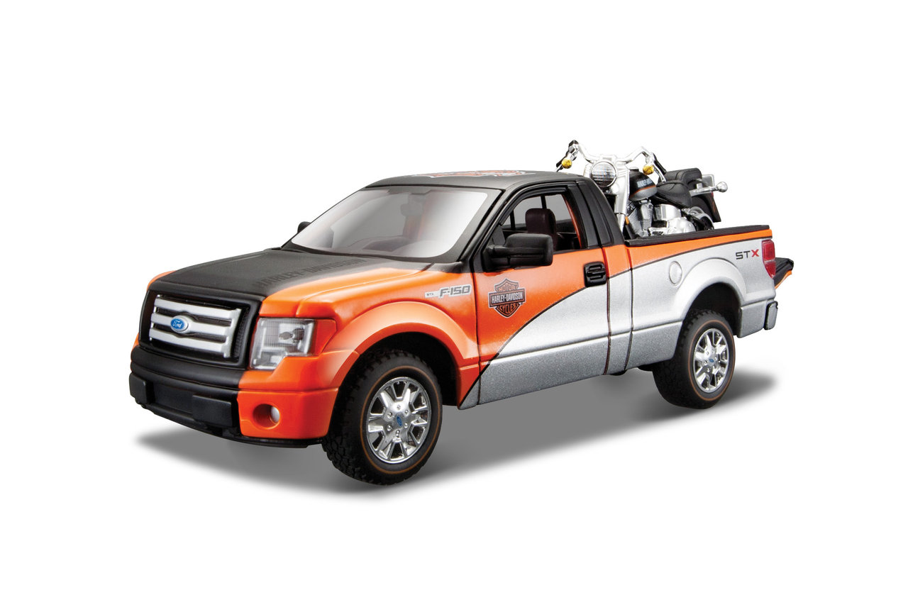 1:27 Harley-Davidson Ford F-150 STX + HD FLSTF Fat Boy