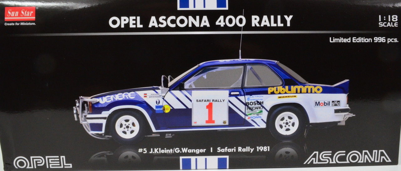 1:18 Opel Ascona 400 Rally Safari 1981 von Sun Star
